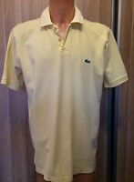 Mens LACOSTE Yellow  Short Sleeve Polo Shirt   size XXL
