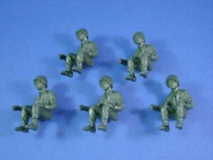MARX-Battleground-Soldiers-5-Seated-US-Army-GI-Tank-Truck-Riders-Drivers-RECAST