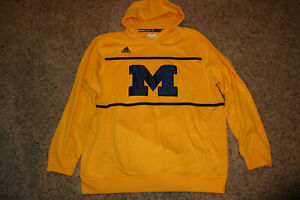 finest selection 836ac 884bf Details about Adidas Michigan Wolverines Football Sweatshirt Hoodie XL  Climalite