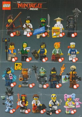 Lego Ninjago Movie Minifigures -Choose your RE SEALED Series 18 CMF Figure 71019