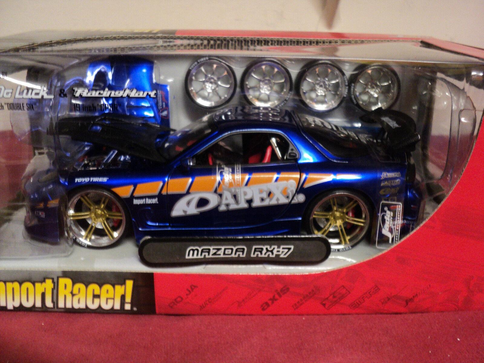 Jada Mazda RX7 RX7 RX7  1 24 Scale 2003 release NIB Import Racer no longer produced 08fb66