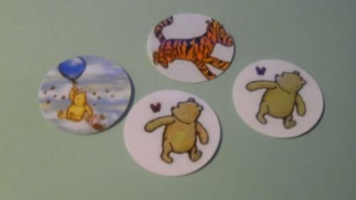Pre Cut One Inch Bottle Cap Images Vintage Winnie and Friends Free Shipping
