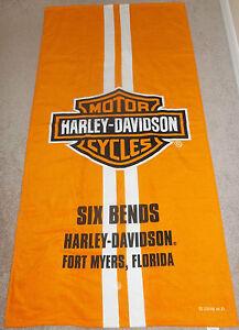 New Harley Davidson 6 Bends Dealer Motorcycle Bath Beach Pool Gift