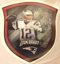"20"" x 19"" TOM BRADY #12 Mural Shield FATHEAD New England Patriots Wall Decal"