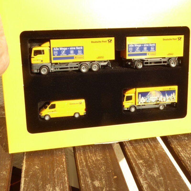 Herpa 006790 Set Speciale 3 x Veicoli Der Deutschen Posta Serie 2002 Scatola