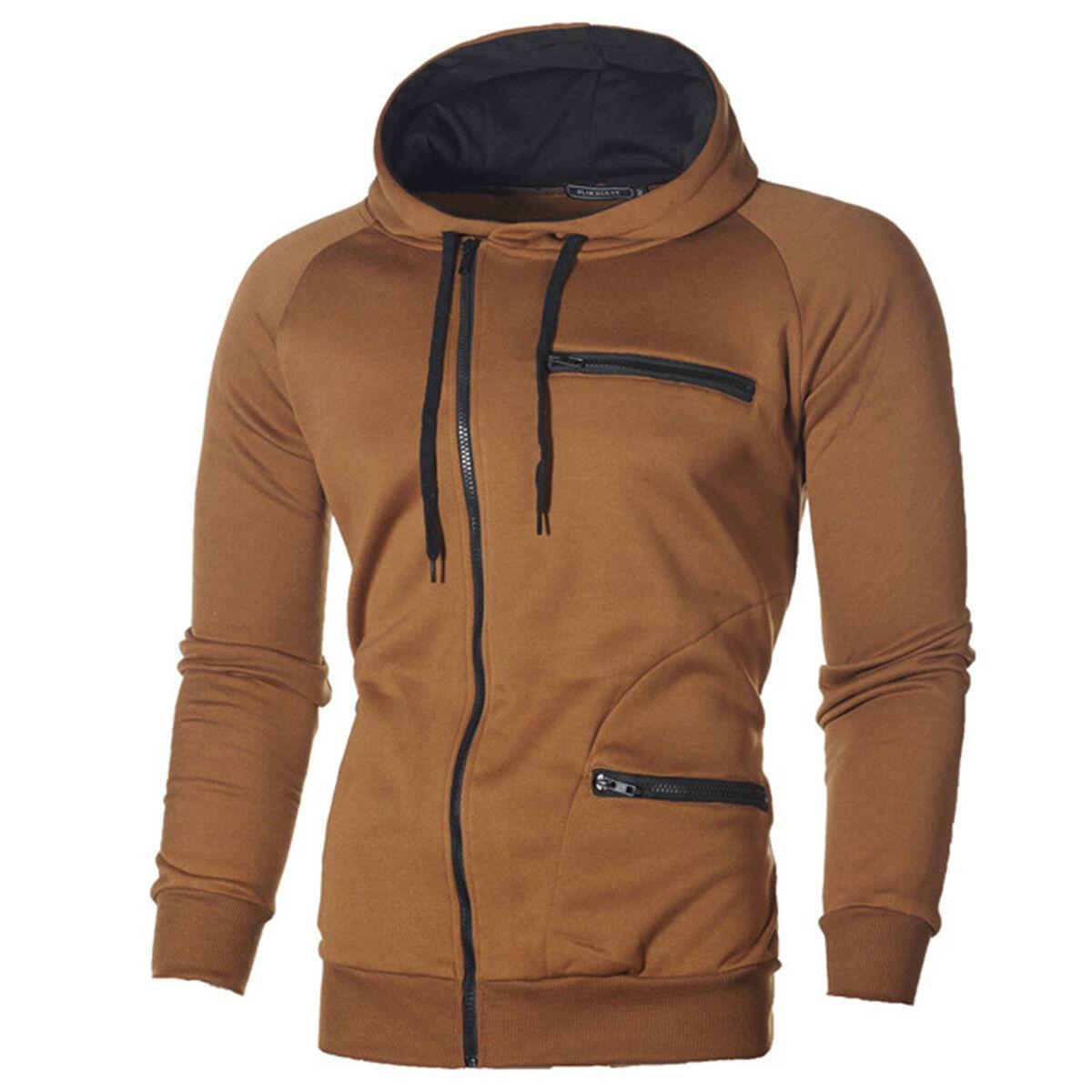 eaa855fb5e Férfi őszi téli kapucnis kapucnis pulóver kabát kabát Outwear Jumper Sweater