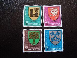 Switzerland-Stamp-Yvert-and-Tellier-N-1072-A-1075-N-A4-Stamp-Switzerland