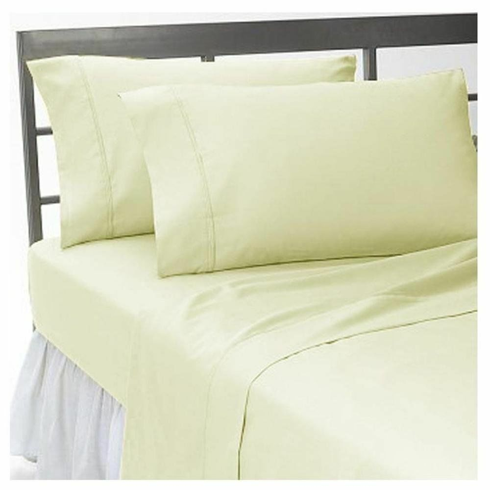 1000 TC Best Egyptian Cotton Duvet Collection & All Sizes Ivory Solid Striped