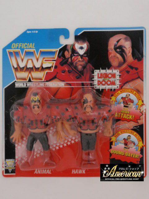 WWF PRO_WRESTLING FIGURES Region of Doom The Road Warriors Animal & Hawk  no=1
