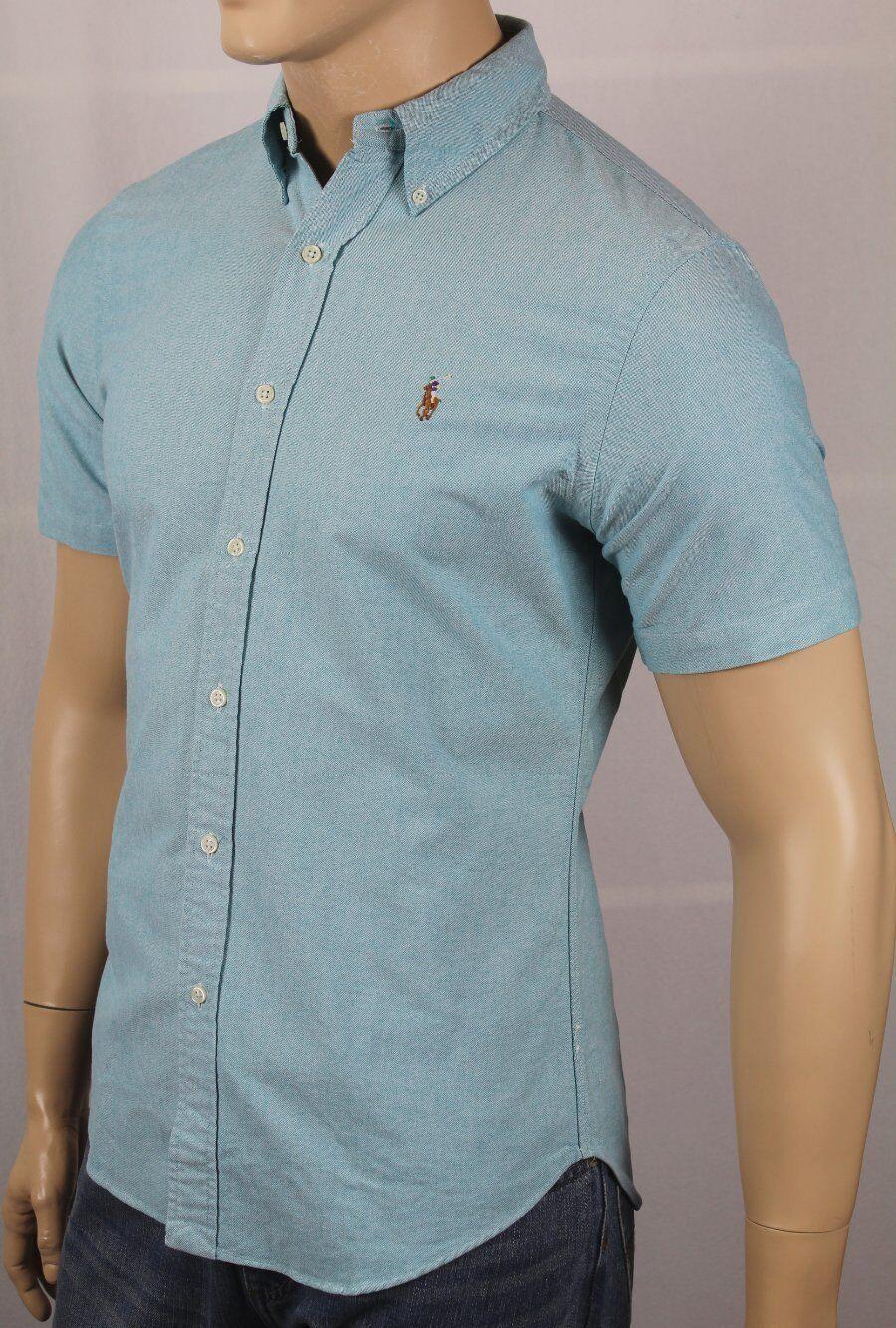 Ralph Lauren bluee Slim Fit Oxford Dress Shirt Multi colord Pony  NWT