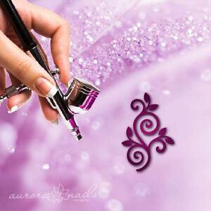 Airbrush-Adhesive-Stencils-f214-Nail-Art-80x-Ranke-Ornament-Floral-Leaves