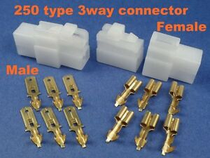 3 pins electrical wire connector terminal cable socket plug atv 1 rh ebay com electrical wire connector types Using Electrical Wire Connectors