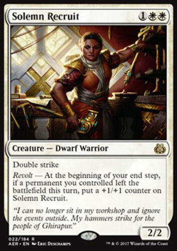 AER MTG SOLEMN RECRUIT MAGIC RECLUTA SOLENNE