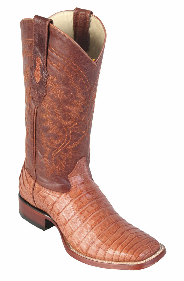 Los altos Cognac Véritable Crocodile Caihomme Bout voitureré Western Cowboy démarrage D
