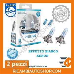 2 LAMPADINE H7 WHITE VISION PHILIPS VW SCIROCCO 2.0 TDI KW:100 2010/> 12972WHVSM