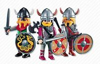 Playmobil Add On 7677 3 Viking Warriors - New, Sealed