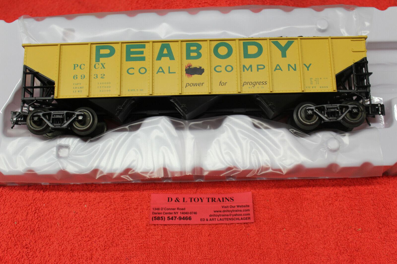 2001821 Peabody Coal Co. 70 Ton 9 Panel Hopper Car 3 Rail NEW IN BOX
