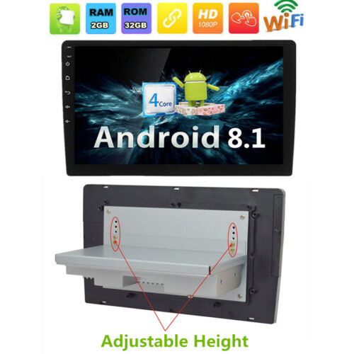 """10/"""" Car Android 8.1 Radio Stereo Player GPS Adjustable 1Din ROM 32G RAM 2G  DVR"""