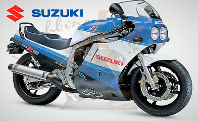 Suzuki 1986 GSXR 750 #2 blue /& white Fridge Magnet