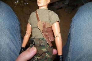 1-6th-Scale-GI-Joe-Dragon-Brown-Real-Leather-Shoulder-Holster
