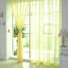 Multi Floral Tulle Voile Porte Fenêtre Panneau Rideau Drapé Transparent Écharpe