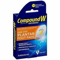 Compound W One Step Plantar Foot Pads, Effectively Remove Warts 20 Each on sale