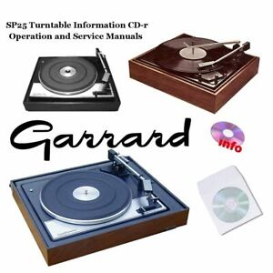 Details about Garrard SP25 turntable record player service instruction  owner manuals cd-r