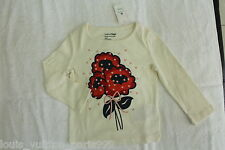 New Baby GAP Long Sleeves Shirt for Toddlers - Red Flowers (Size 12-18 months)