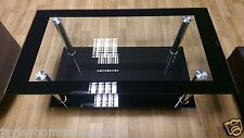Phoenix Coffee Table Elegant Glass And Chrome Finish