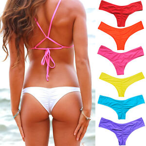 7882ee2f8f Brazilian Bikini Bottom Swimwear V Thong G-String Cheeky Beachwear ...