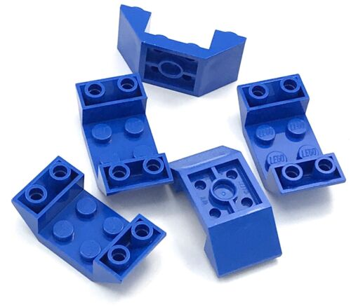 Lego 5 New Blue Slope Sloped Inverted 45 4 x 2 Double Pieces