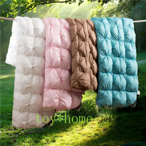 100% Goose Down Duvet 3D Quilted Quilt King Queen Full Size Comforter Blanket us