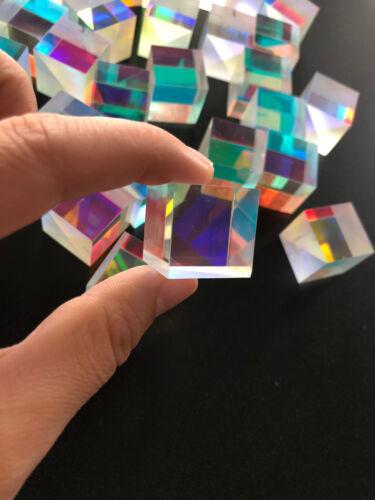 4pcs 17MM Cross Dichroic Prism RGB Combiner/&Splitter X-cube Kids Christmas Gift