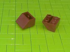 Nuevo LEGO Ladrillos - 10 X 2x2 marrón rojizo invertida pendiente ladrillo 45 3660 -