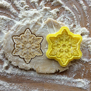 Details About Snowflake Cookie Cutter Christmas Cookie Stamp Christmas Snowflake Cookies