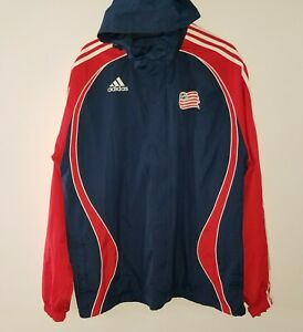 Adidas-World-Cup-USA-Soccer-Hooded-Jacket-Red-Blue-XL