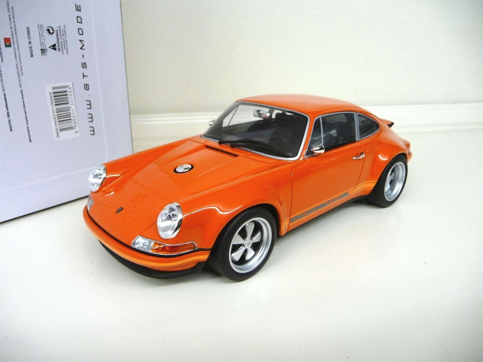 1 18 GT Spirit Singer Porsche 911 orange ZM049 NEU NEW