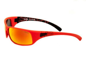 Bolle-Sunglasses-Recoil-Matte-Red-Black-Polarized-Fire-12127-Authorized-Dealer