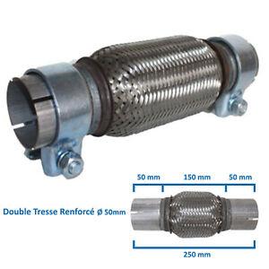 FLEXIBLE-ECHAPPEMENT-50MM-L-150MM-250MM-ADAPTATEUR-TRESSE-FLEX-TUBE-MALE