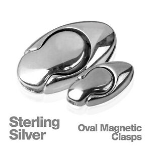 Sterling-Silver-Single-Oval-Magnetic-Jewellery-Chain-Clasp