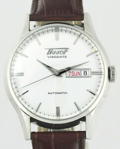 TISSOT-Visodate-Heritage-Day-Date-Automatic-Stainless-Steel-Mens-Wrist-Watch