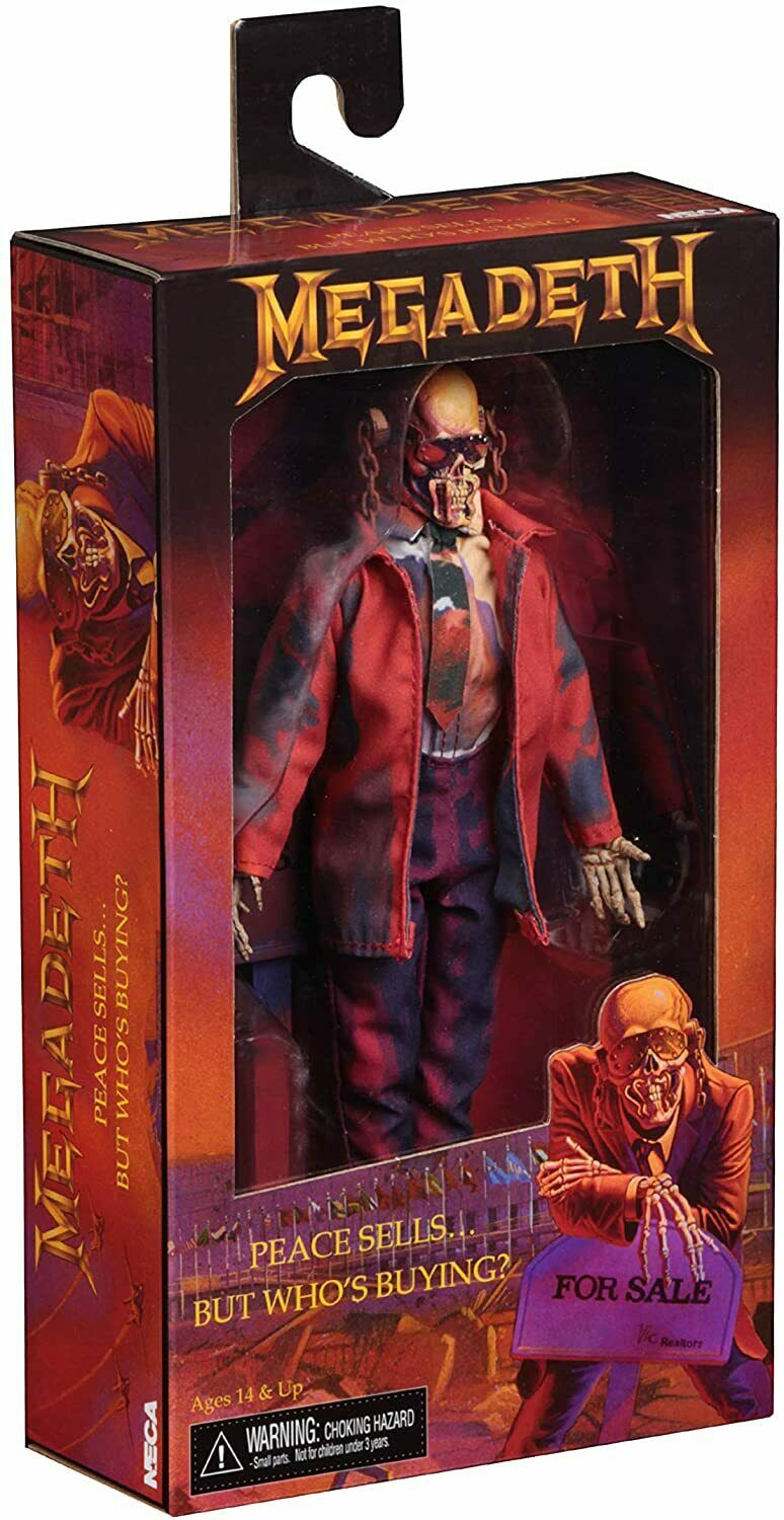 Megadeth Peace Sells But Who's Buying Vic Rattlehead Clothed Figure Neca 36700