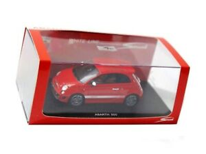 Wow extrêmement rare Fiat 500 Abarth 133hp 2008 Red Resin 1:43 Spark-minichamps