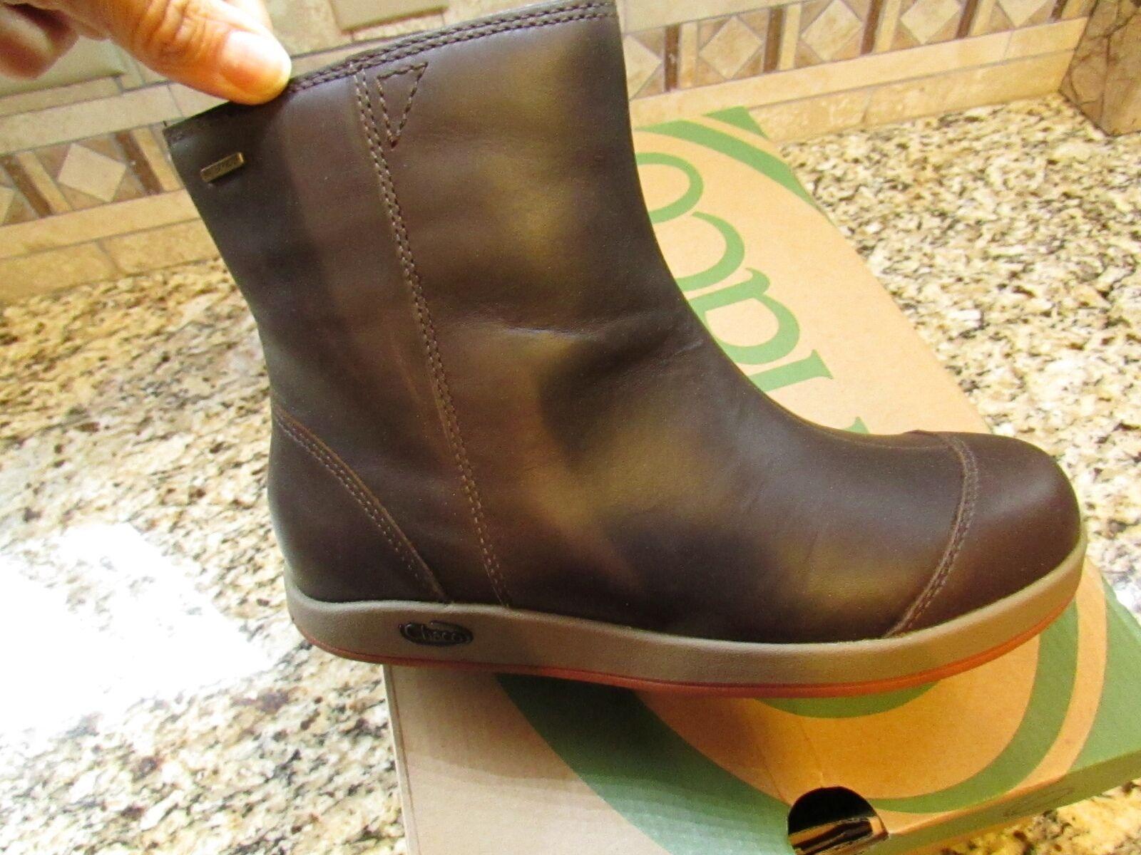 Nuevo Chaco Darcy Impermeable botas De Cuero Para Mujer 6 marrón Botines Envío Gratis