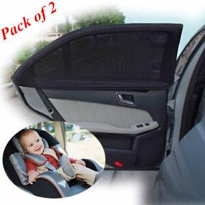 2-x-Car-Side-Rear-Window-Sun-Visor-Shade-Mesh-Cover-Shield-Sunshade-UV-Protector