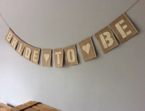 Hen Party Bride To Be Bunting Banner Vintage Hessian Burlap