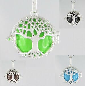 Details zu Baum des Lebens Anhänger zum Öffnen Klangkugel Medaillon Lebensbaum yggdrasil