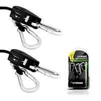 Vivosun Pair Of 1/8 Adjustable Grow Light Reflector Clip Hanger Rope Ratchet Wi on sale