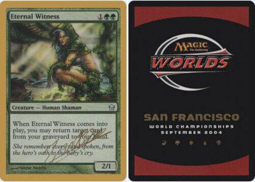 Julien Nuijten Eternal Witness 2004 ~ Near Mint World Championship Gold Bord