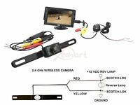 Newest Wire Or Wireless Waterproof Cmos Rear View Camera + 4.3 Lcd Car Monitor